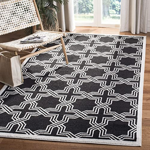 Safavieh Amherst Collection AMT413G Geometric Area Rug, 3 x 5 , Anthracite Ivory