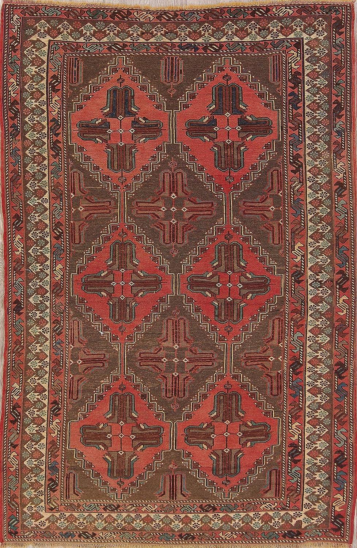 Amazon Com One Of A Kind New Kilim Sirjan Tribal Geometric Hand Woven 5x7 Red Wool Area Rug 7 5 X 4 11 Kitchen Dining