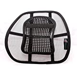A&B HOMEWARE® High Quality Chair Back Support System Sit Right with Elasticated Positioning Strap and Mesh Lumbar Support Cushion for Car Seat or Chair Back Rest RRP £19.99