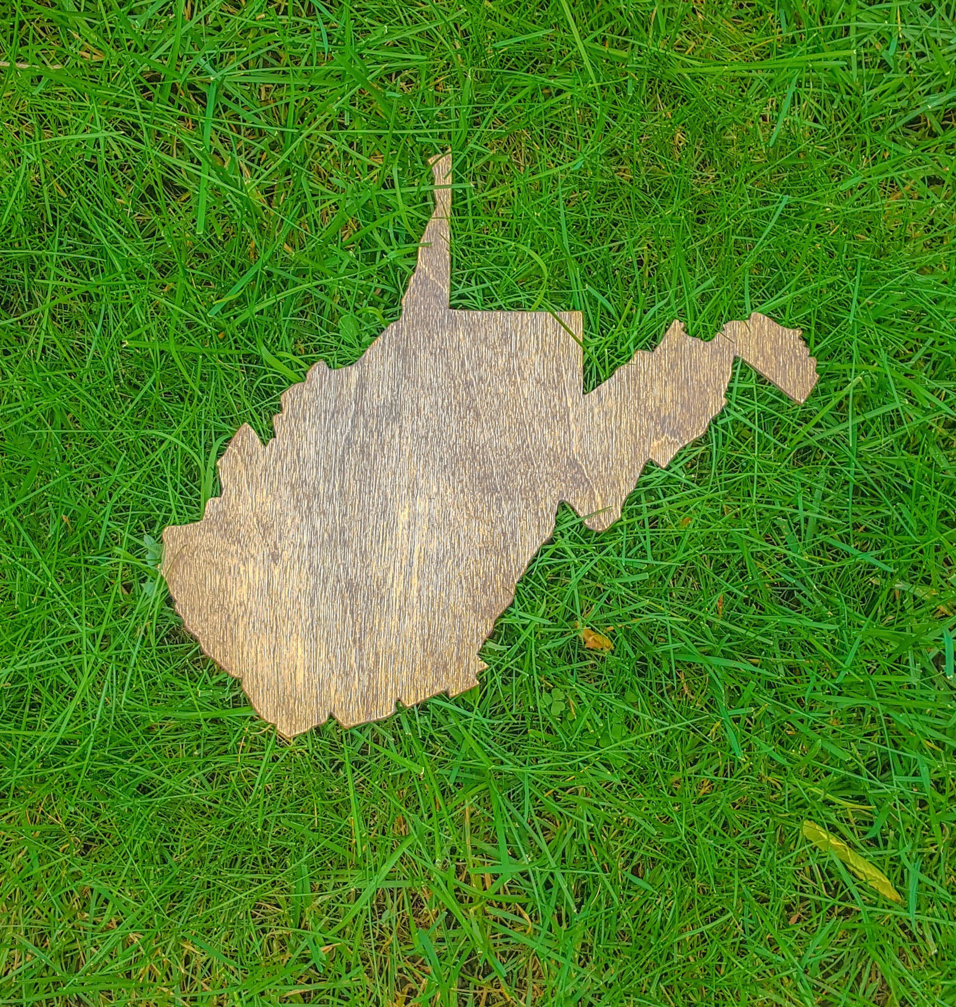 Rustic West Virginia Gallery Wall Art Wooden Cutout Office College Dorm Home Bedroom Decor