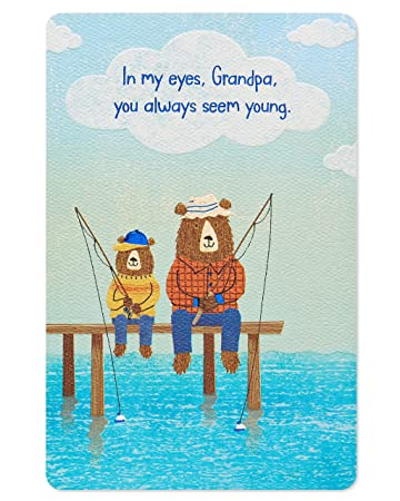 Amazon American Greetings Young Birthday Card For Grandpa With