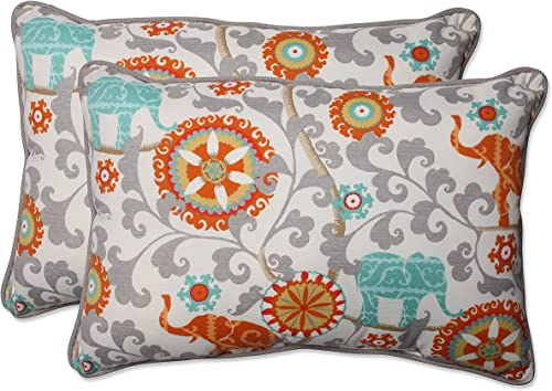 Pillow Perfect Outdoor/Indoor Menagerie Cayenne Oversized Lumbar Pillow
