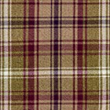 Mulberry Tartan Check Fabric by the Metre - Flat Woven Wool Effect Twill. Upholstery, Curtain and Craft Fabrics 140cm Wide by McAlister Textiles from the 'Angus' design range.