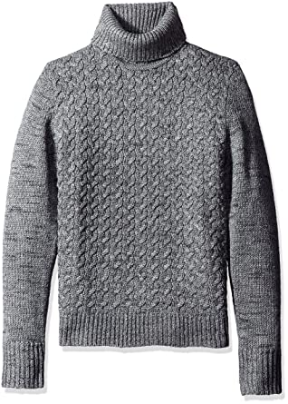 Calvin Klein Men's Wool Cable Knit Turtleneck Sweater, Monument ...