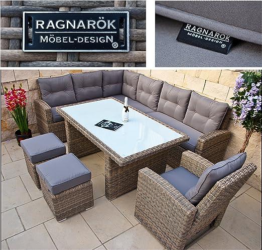 RAGNARÖK - Conjunto de muebles de jardín de alta dentición - Marca alemana - 8 años de garantía de