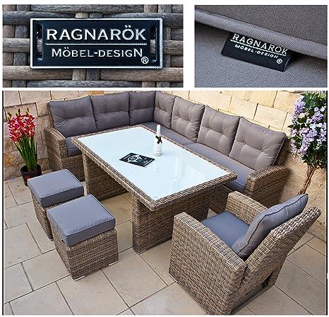 Amazonde Ragnarök Polyrattan Hohe Dinning Lounge Deutsche Marke