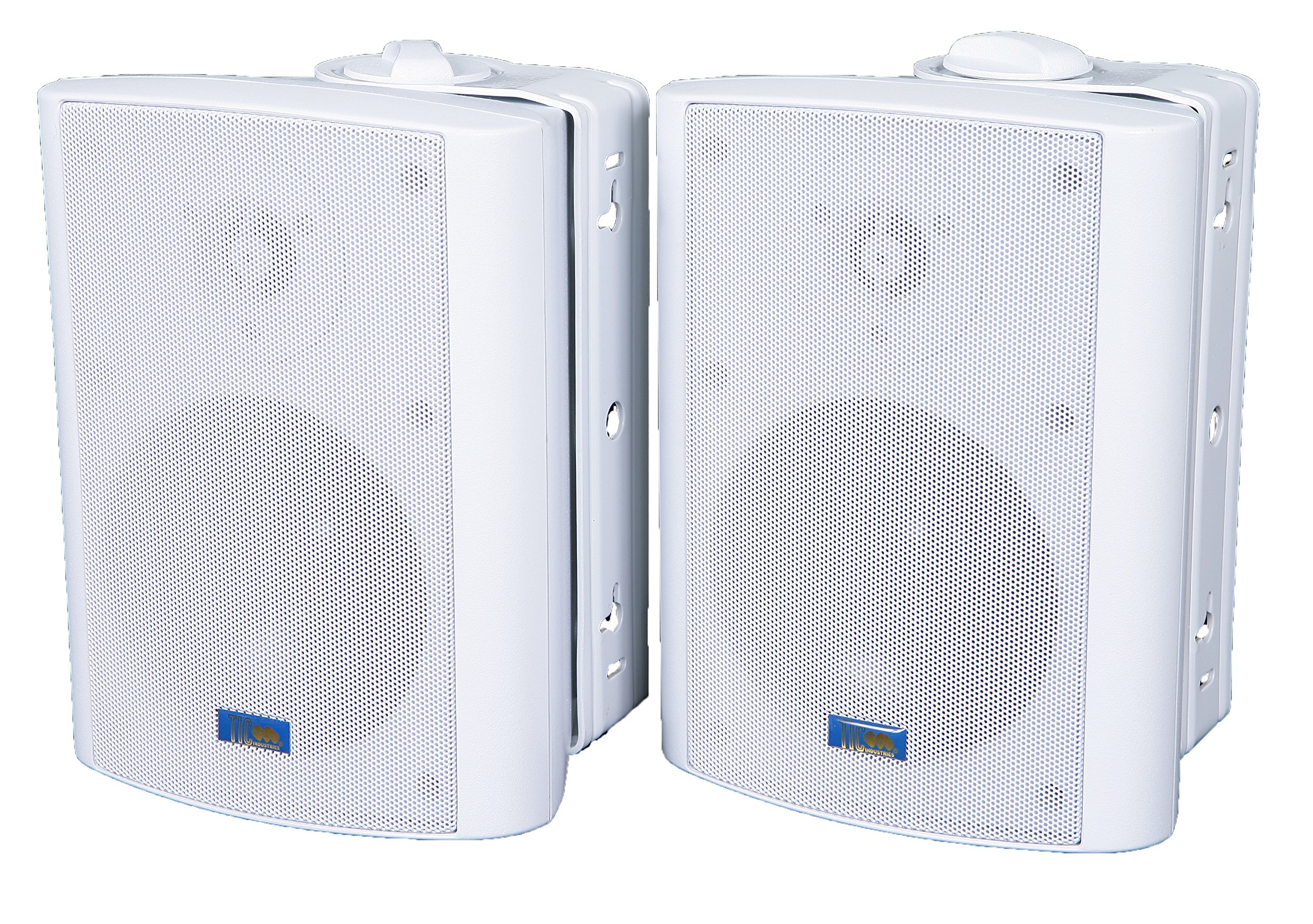 TIC ASP60-W 5'' Outdoor Weather-Resistant Patio Speakers with 70v Switch (Pair) - White