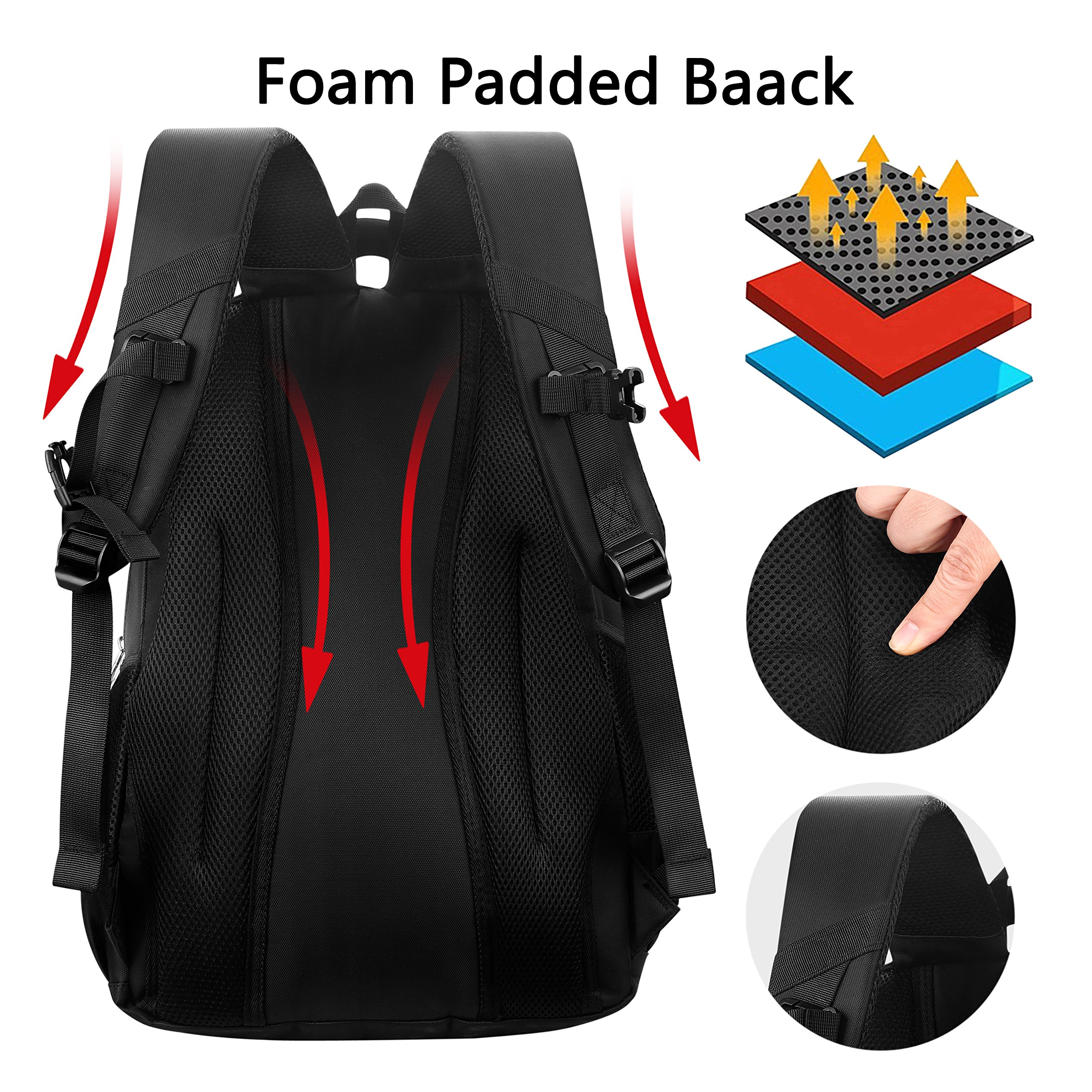Laptop Backpack, Water-resistent Business Loop Backpack, 15.6 Inch Backpack by ShangYu (Image #3)