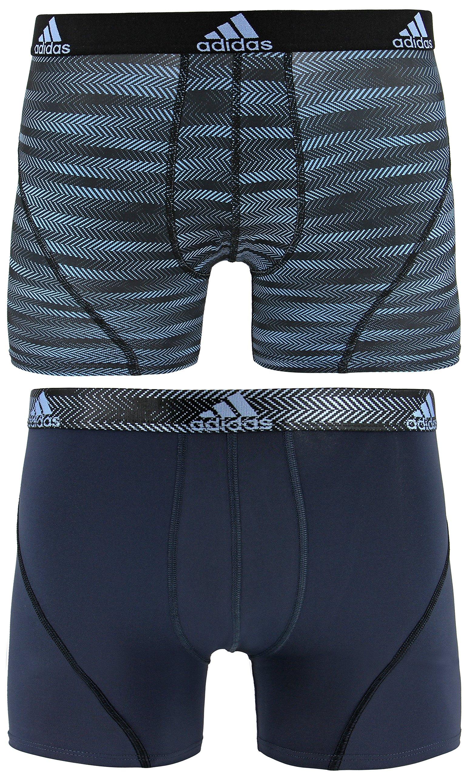 adidas Men's Sport Performance Trunk Underwear (2-Pack), Collegiate Light Blue Ratio Urban Sky Ratio, MEDIUM by adidas