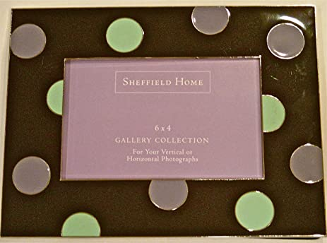 Amazon.com - Sheffield Home Gallery Polka Dot Enamel Picture Frame -