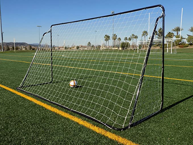 f3edcec0fb4 Amazon.com   Vallerta 12 x 6 Ft. Black Powder Coated Galvanized Steel Soccer  Goal w Net. 12x6 Foot AYSO Regulation Size Portable Training Aid.