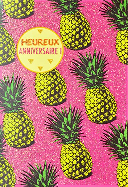 afie 69 - 4009 tarjeta feliz cumpleaños purpurina diseño ...