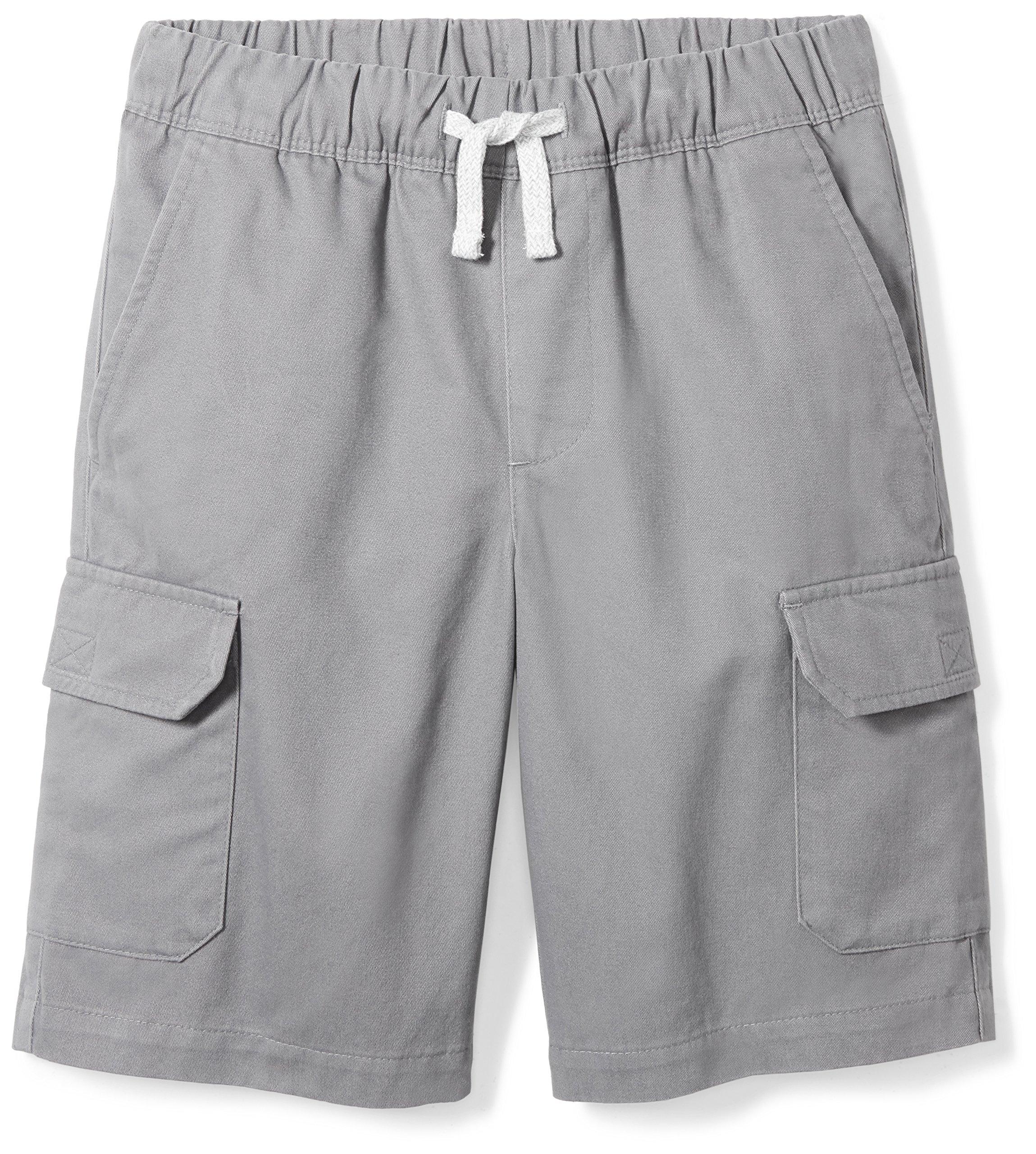 Spotted Zebra Boys' Little Cargo Shorts, Grey, Small (6-7)