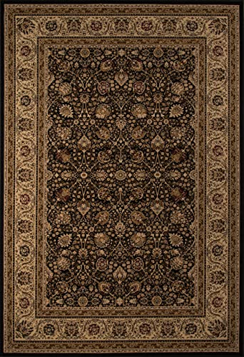 Momeni Rugs Royal Collection, 1 Million Point Power Loomed Traditional Area Rug, 3 11 x 5 7 , Black