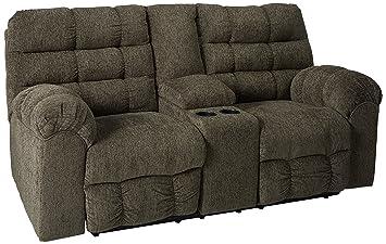 Prime Ashley Furniture Signature Design Acieona Recliner Loveseat With Console Pull Tab Manual Reclining Slate Gray Machost Co Dining Chair Design Ideas Machostcouk