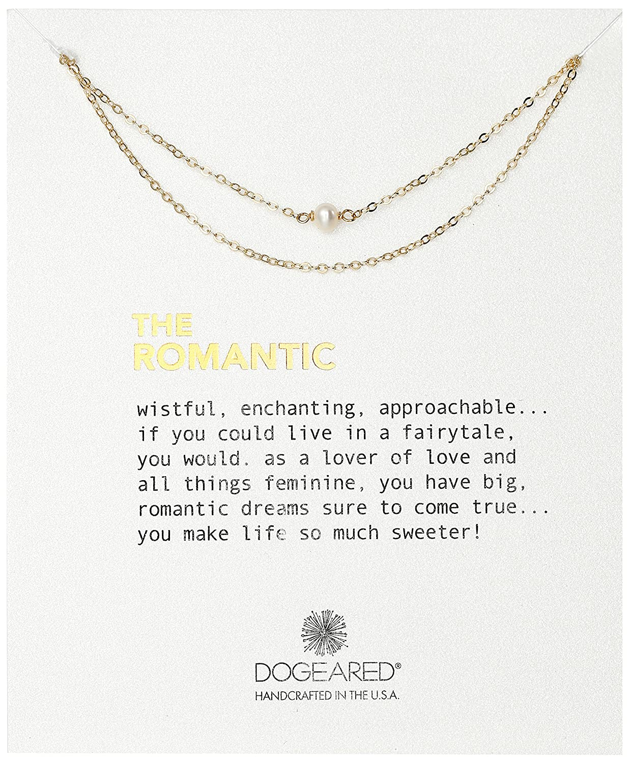 Dogeared The Romantic Potato Pearl with Double Chain Necklace, 18-Inch