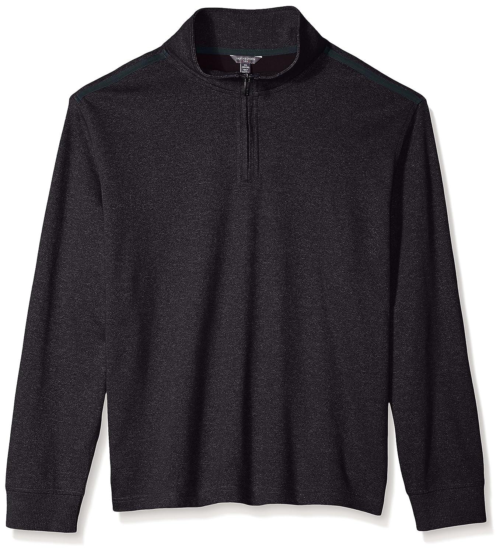 Van Heusen Mens Big and Tall Flex Long Sleeve 1//4 Zip Ottoman Solid Shirt