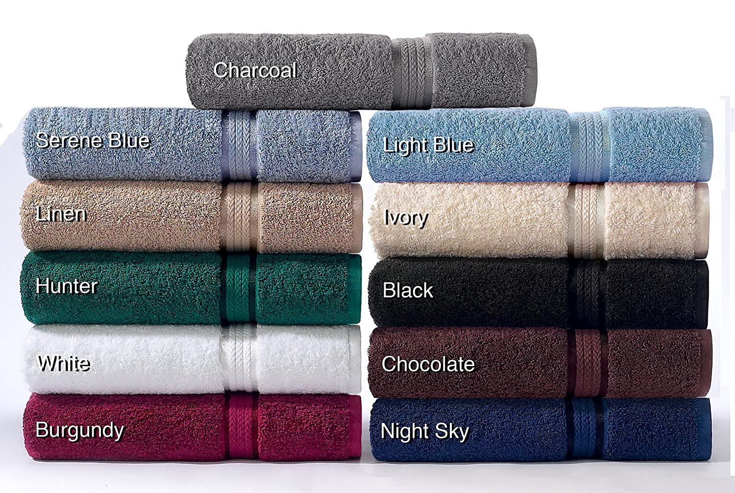 Ultra Soft Oversized Extra Large Bath Towels 30X54 Night Cotton Craft 4 Pack