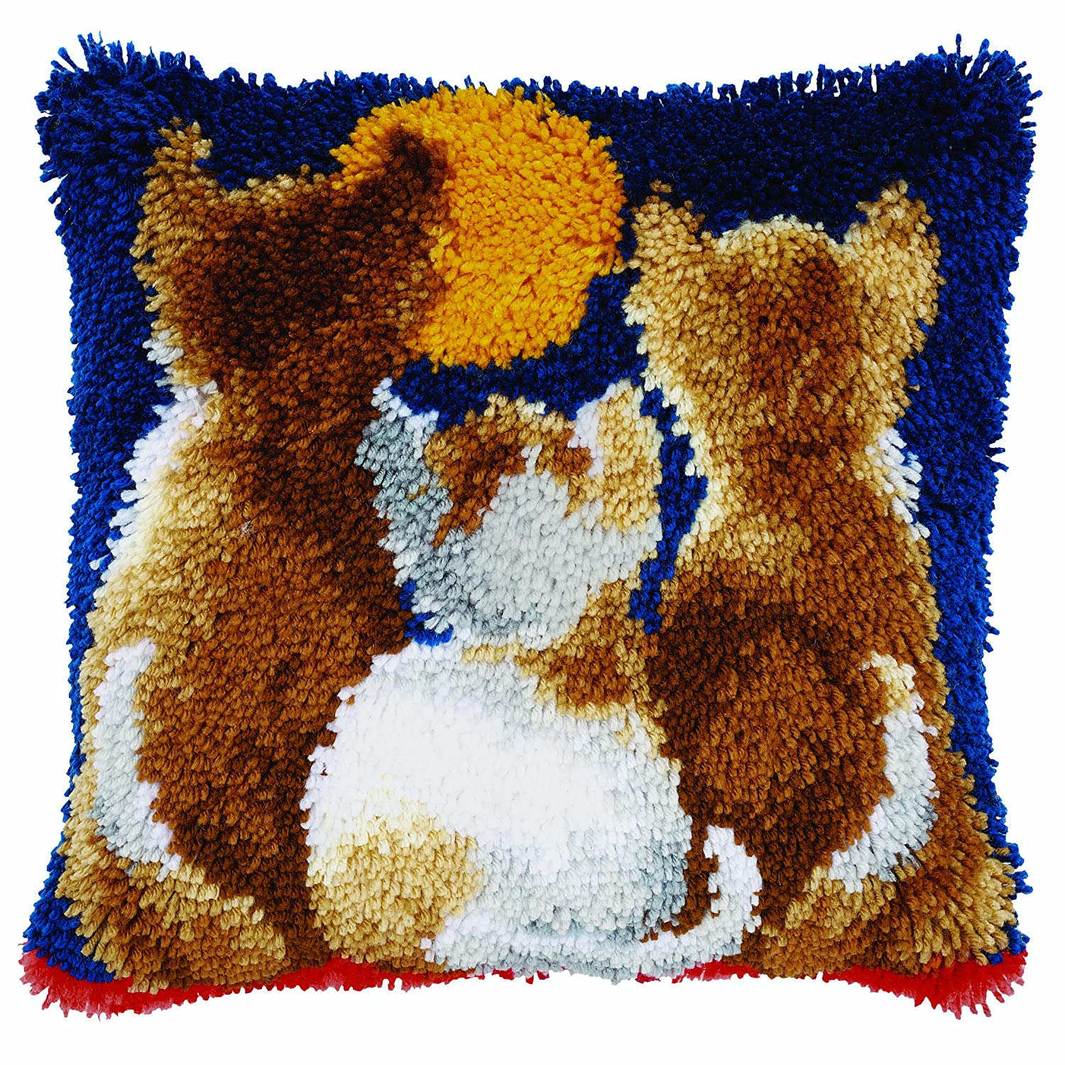 Vervaco Latch Hook Cushion Kit: Cats at Night PN-0021651