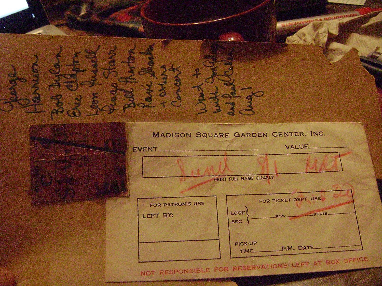 Amazon.com : Concert for Bangladesh, Ticket Stub 1971. Organized by ...
