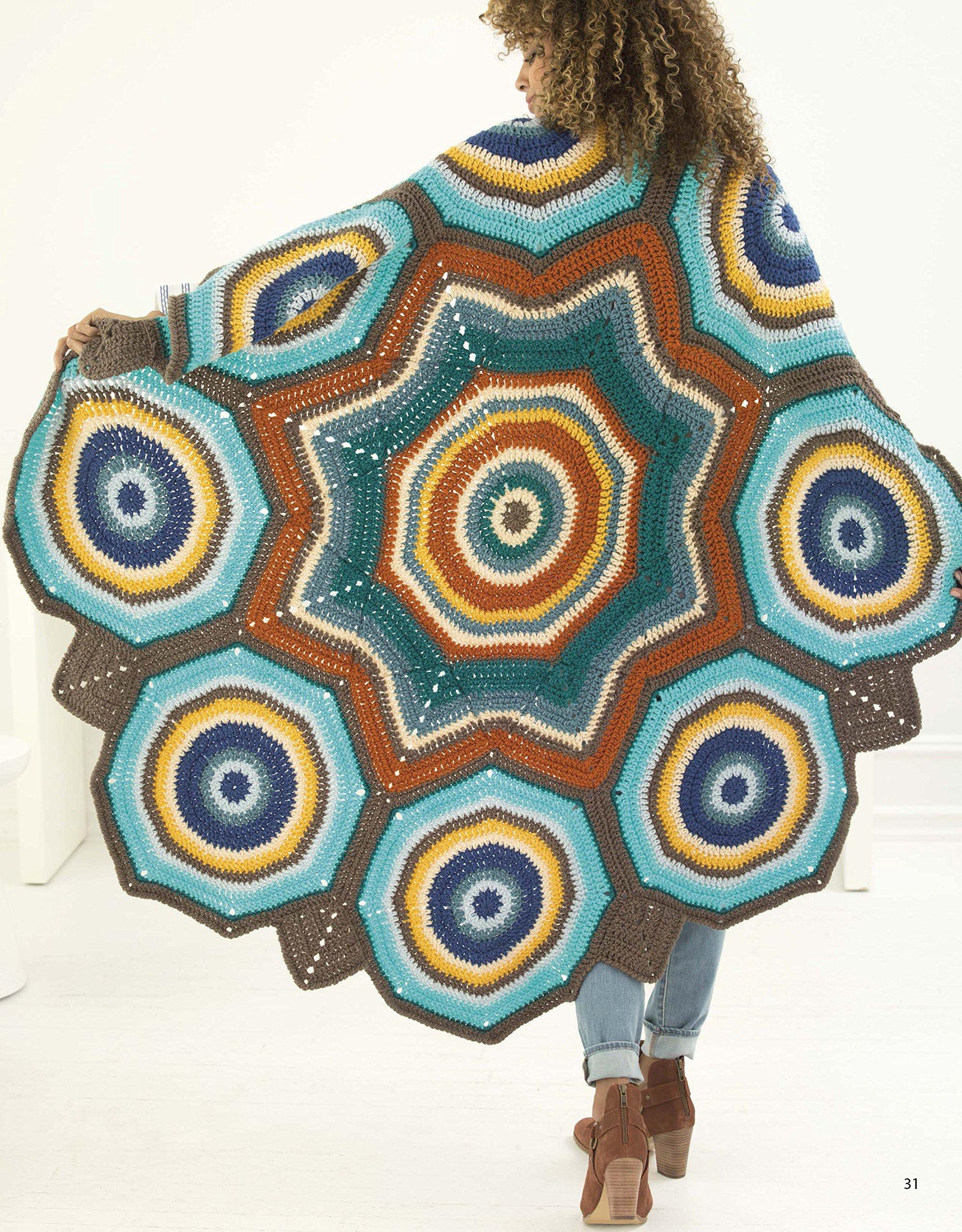 Mindful Mandala Afghans Crochet Leisure Arts 6890 Leisure
