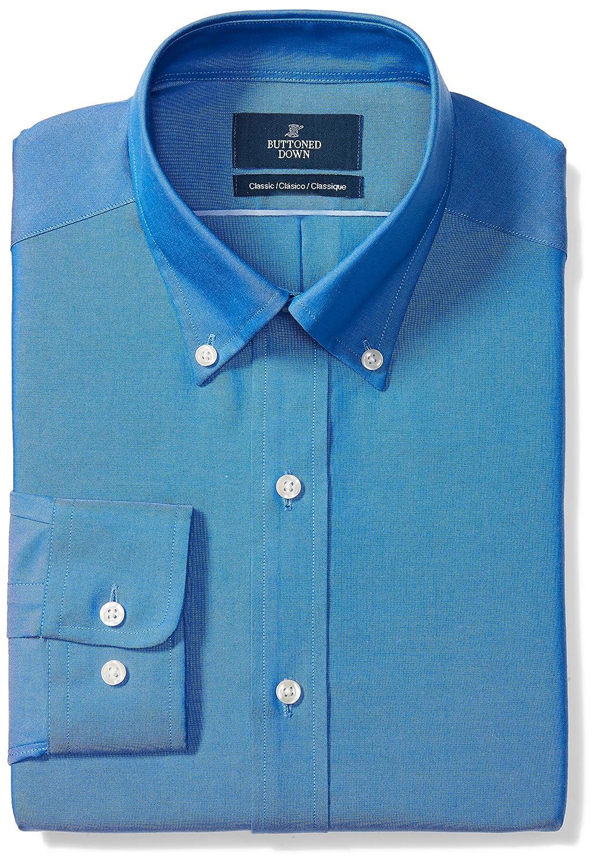 Amazon.com: Buttoned Down Men\'s Classic Fit Button-Collar Solid Non ...