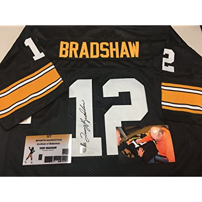 08bf554f9ac Terry Bradshaw Autographed Signed Pittsburgh Steelers Custom Jersey Tristar  Authentic COA   Hologram