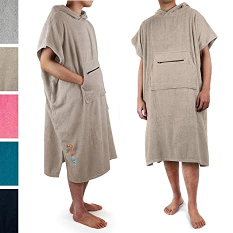 2a7922ecd4bf05 Amazon.com: SUN CUBE Surf Poncho Changing Robe with Hood  Terry ...