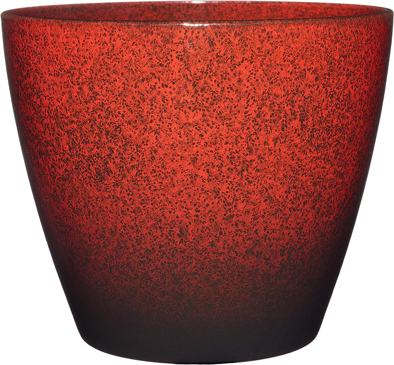 "Classic Home and Garden 807-376R Vogue Planter, 8"", Lava Red"