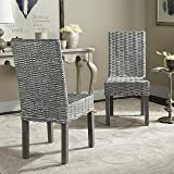 Safavieh Home Collection Wheatley Grey White Wash Dining Chair (Set of 2)