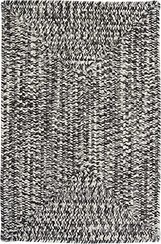 Catalina Polypropylene Braided Rug, 2-Feet by 3-Feet, Blacktop