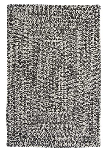Catalina Polypropylene Braided Rug, 4-Feet by 6-Feet, Blacktop
