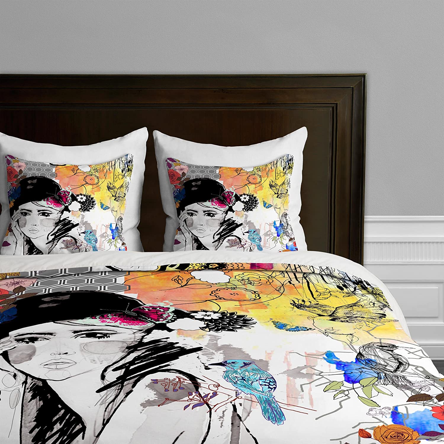 Deny Designs Holly Sharpe African Essence Duvet Cover, Queen 14053-duvqun