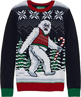 a8ee54f77c49 Alex Stevens Men s Bikini Sasquatch Ugly Christmas Sweater at Amazon ...