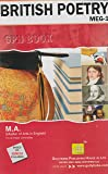 MEG1-British Poetry (IGNOU help book for MEG-1 in English Medium) (New Edition,2015)