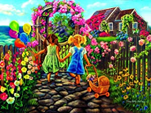300 Large Piece Flower Puzzle for Adults - Cottage Flower Garden