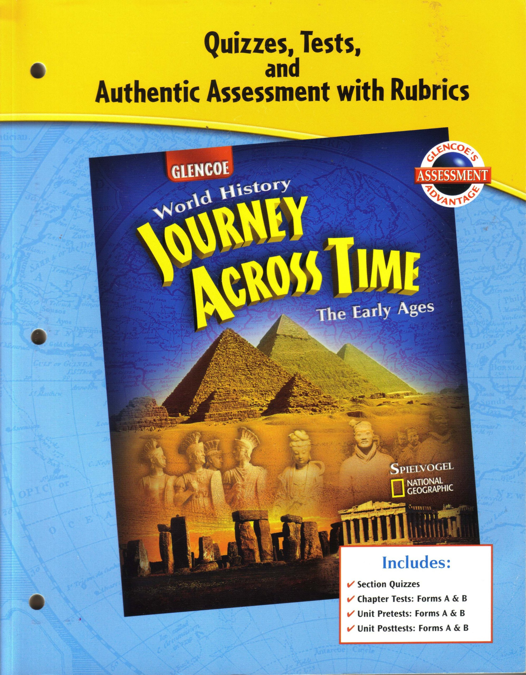 """Quizzes, Tests, and Authentic Assessment with Rubrics for Glencoe """"World  History:Journey Across Time: Glencoe: 9780078603204: Amazon.com: Books"""