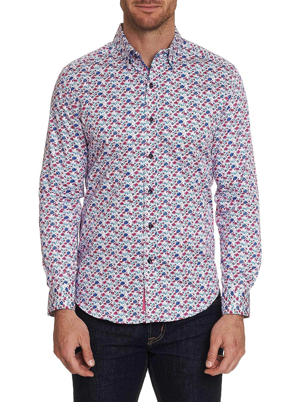 Robert Graham Mens Everard Long Sleeve Slim Fit Shirt