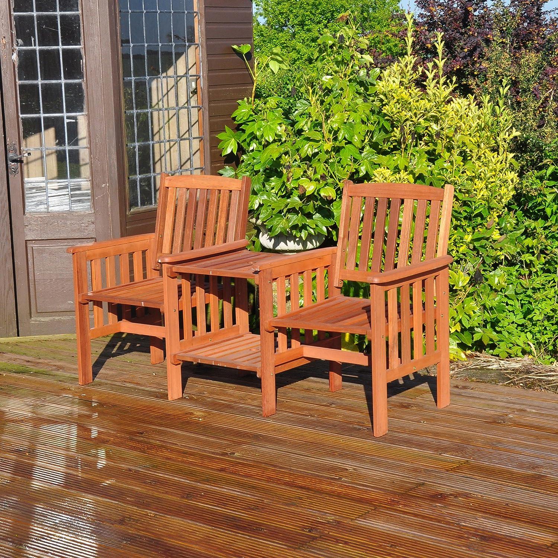 Exceptionnel Kingfisher FSLOVE Hardwood Love Seat   Wood: Amazon.co.uk: Garden U0026 Outdoors