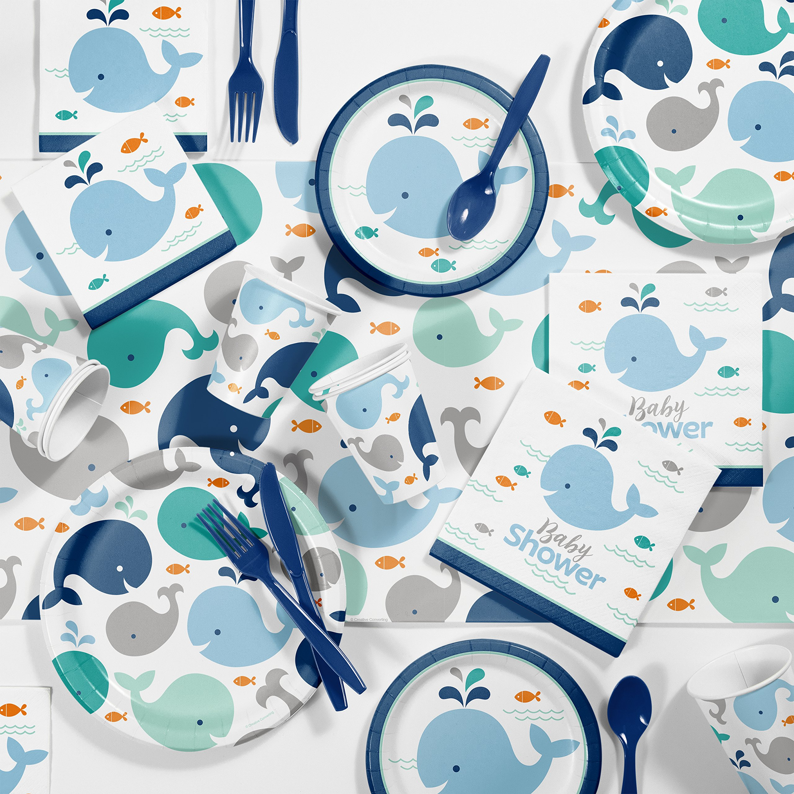 Amazon.com: Blue Baby Whale Baby Shower Decorations Kit: Health ...