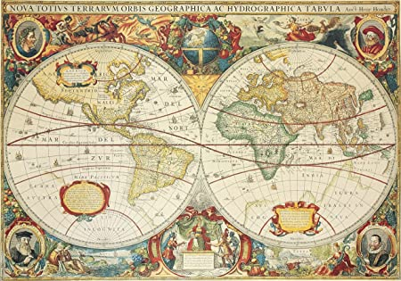 Antique world map by henry hondius dutch dated 1630 25 x 18 inches antique world map by henry hondius dutch dated 1630 25 x 18 inches gumiabroncs Choice Image