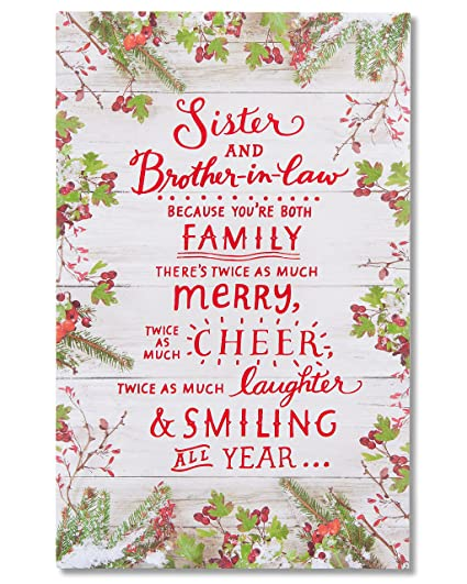 Christmas Card Greetings.American Greetings Christmas Card For Sister And Brother In Law With Glitter
