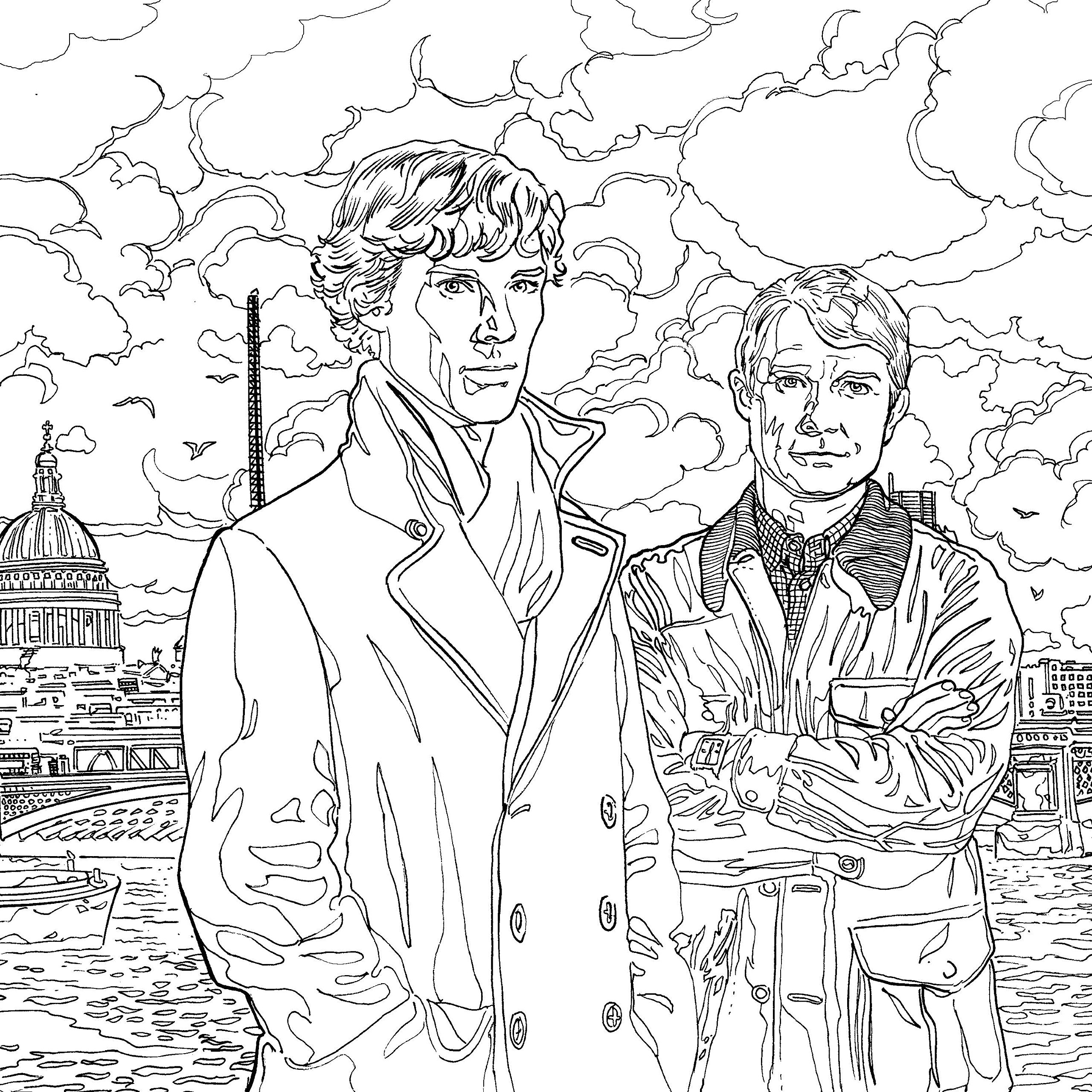Sherlock The Mind Palace The ficial Colouring Book Amazon