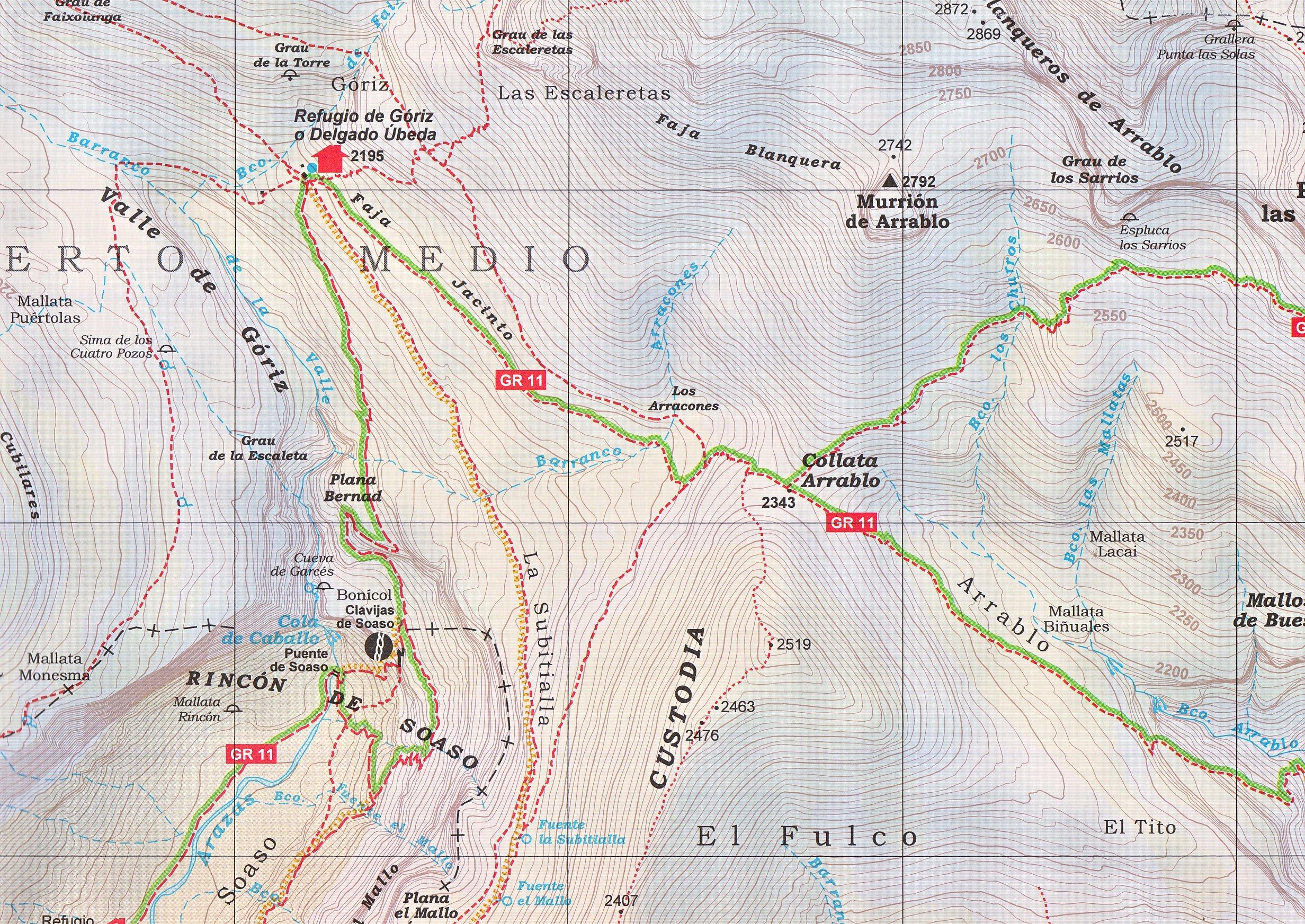 Ordesa y el entorno 1:60.000 mapa topográfico senderismo PN de ...