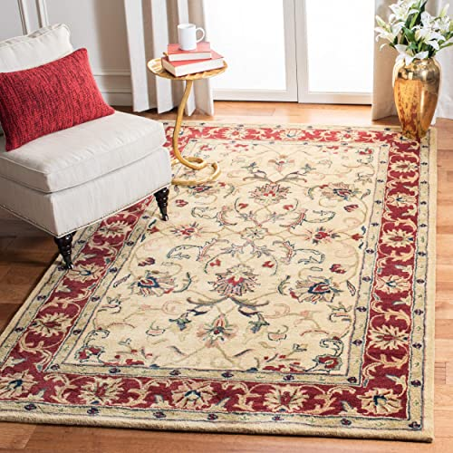 Safavieh Classic Collection Handmade Wool Area Rug, 6 x 9 , Gold Red