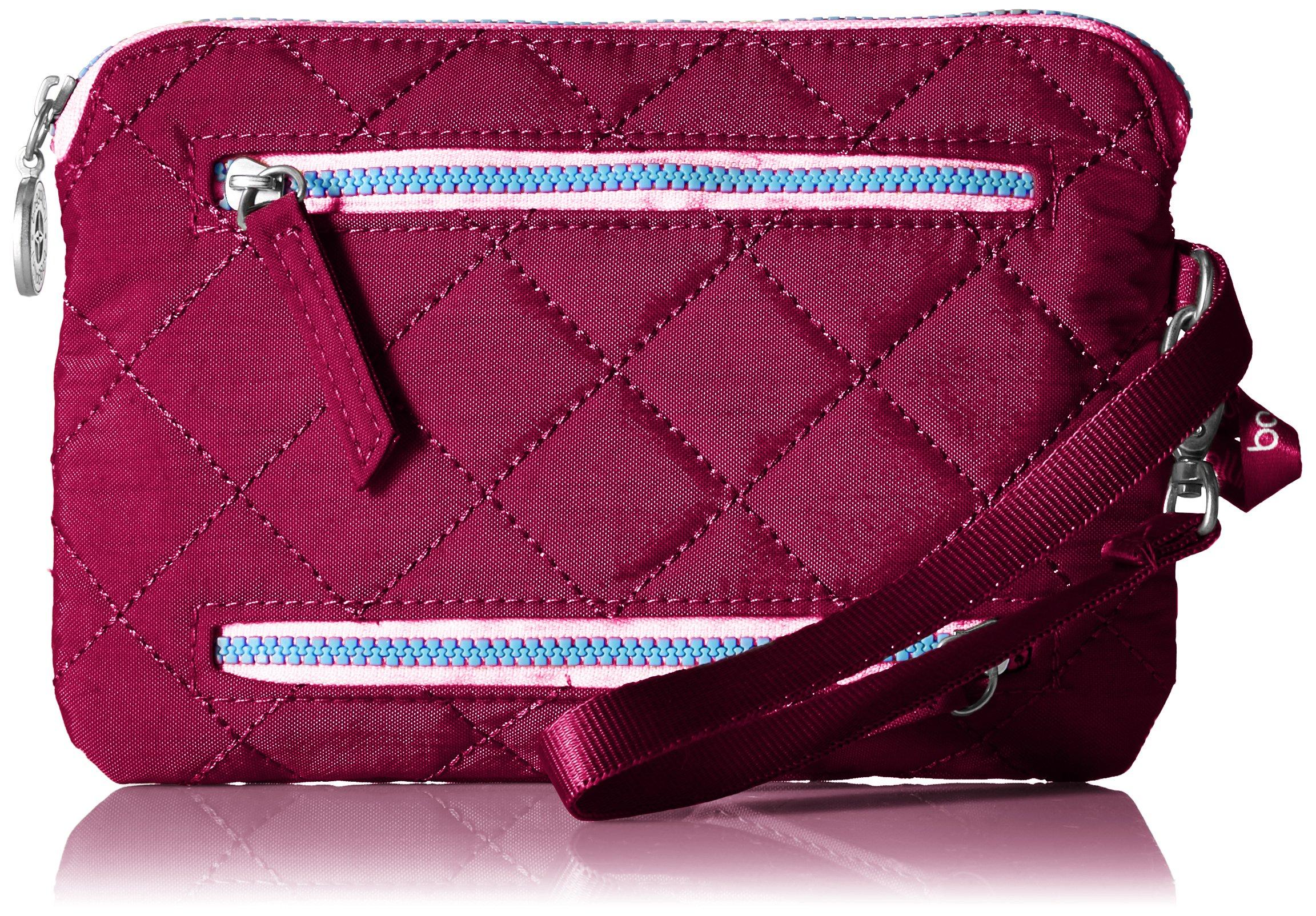 Baggallini Women's RFID Currency & Passport Organizer, fuchsia/pink One Size