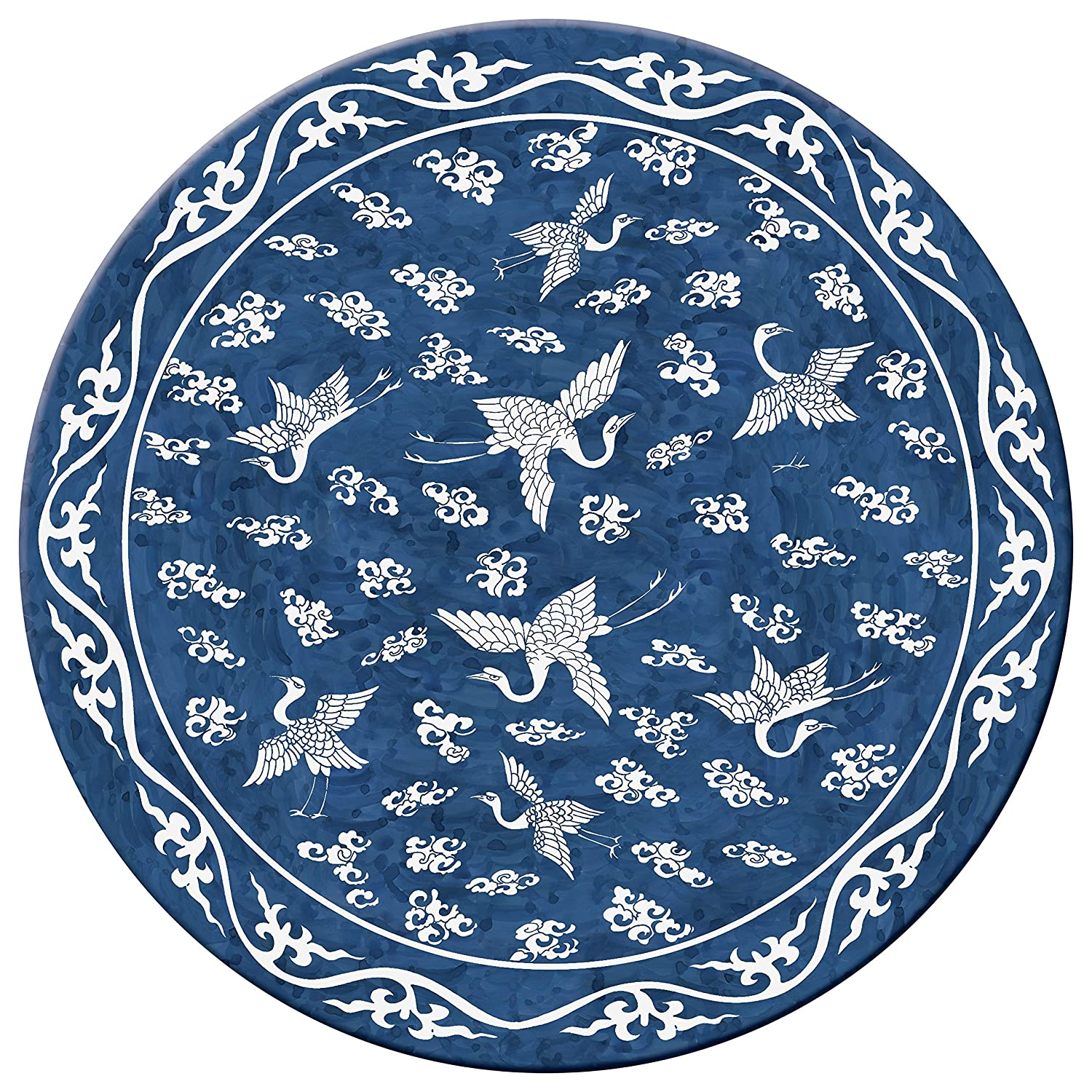 Hadley Table MING Blue Hard Placemats, ROUND, SET OF 4