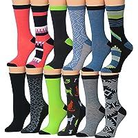 Tipi Toe Mujer 12pares calcetines de patrones coloridos