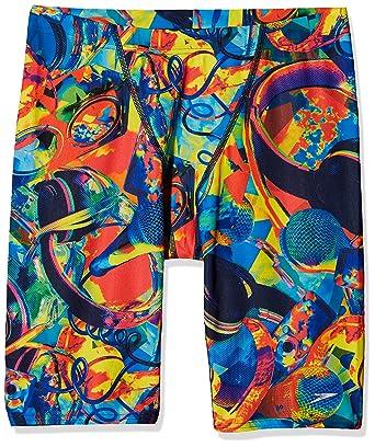Boys Speedo Swimwear Speedo Paintblast Allover V Cut Panel Jammer Speedo.