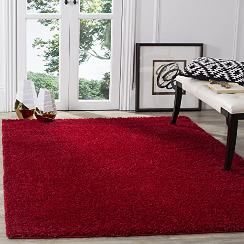 Safavieh Arizona Shag Collection ASG820H Southwestern Red Area Rug 9 x 12